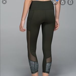 Green limited edition lululemon high times mesh